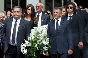 Family and friends were Paul's pall-bearers. Photo / Brett Phibbs