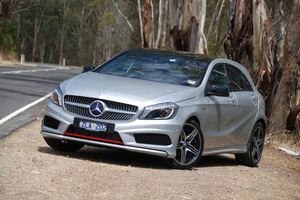 'Lord won't you buy me a Mercedes A250?' Mercedes is right on song with its A-class release. Photo / Supplied.