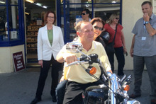 John Key on a Harley-Davidson. Photo / Supplied 