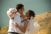 Hoani and Michelle  on their wedding day. Photo / Supplied