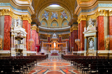Interior of Stephens Basilica in Budapest, Hungary. Photo / Getty Images