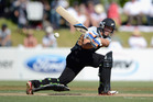 Tom Latham showed his talent with the bat at Whangarei yesterday. Photo / Getty Images