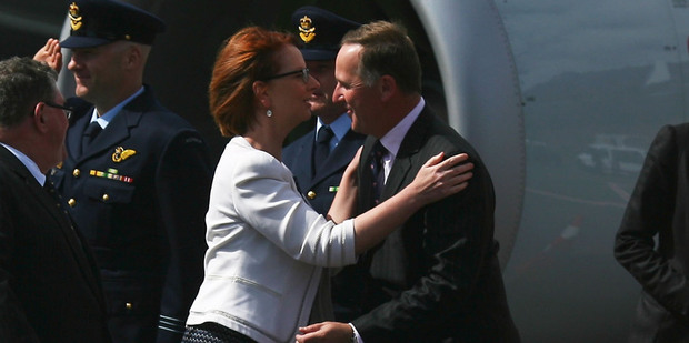 Julia Gillard and John Key will do some serious talking in Queenstown today. Photo / Getty Images