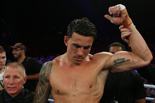 Sonny Bill Williams was struggling to stay on his feet in the 10th and final round of his fight against Francois Botha. Photo / Getty Images