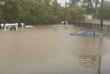 Flooding in Bundaberg, Queensland. Photo / Supplied
