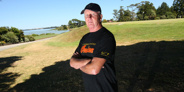 Keywella Drive resident Max Byrnes on the Manukau golf course that is earmarked for development. Photo / Chris Gorman