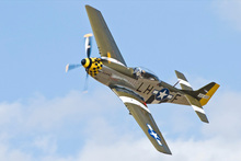 A P51 Mustang in flight. Photo / Supplied
