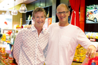 Cookie Time brothers and owners Guy Pope-Mayell (left) and Michael Mayell have been in business for 30 years. Photo / Supplied