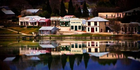 Cromwell Old Town is on the shores of Lake Dunstan. Photo / Kelvin Reid
