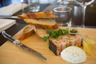 The Terrine au Saumon et Anguille at Ile de France restaurant in Nuffield St, Newmarket. Photo / NZH