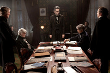 Daniel Day-Lewis, center, as Abraham Lincoln. Photo / AP