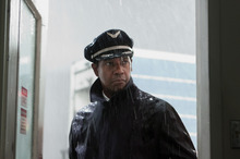 Denzel Washington portraying Whip Whitaker in a scene from 'Fli