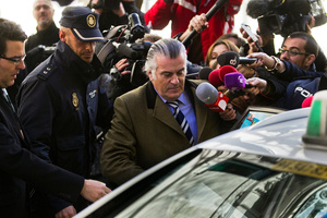Luis Barcenas, a former banker, is accused of involvement in the channelling of payments through secret accounts including the Prime Minister. Photo / AP