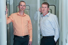 Hamish Roy, left and John Ward of IT company vBridge. Photo / David Alexander