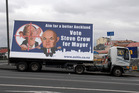 Mobile election hoardings are on Auckland Transport's banned list. Photo / APN