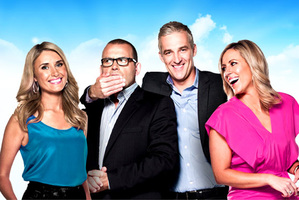 Paul Henry and the Channel Ten  Breakfast team ... his epic failure was fascinating. Photo / Supplied