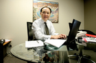 Richard Yan, head of Richina Pacific which owns Mainzeal, was not speaking this week. Photo / Kenny Rodger
