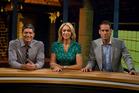 Seven Sharp presenters Jesse Mulligan, Ali Mau and Greg Boyed. Photo / Michael Craig