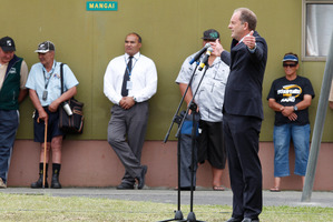 Labour Party leader David Shearer during his speech at Ratana Marae. Photo / Mark Mitchell