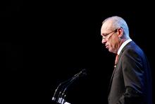 Sir Henry van der Heyden condemns tribal bickering. Photo / Christine Cornege
