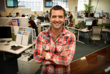 Shane Bradley, head of daily bargains website GrabOne, at his offices in Parnell. Bradley is stepping down as chief executive next month. Photo / Natalie Slade