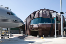 Wellington Airport's new international terminal, The Rock, opened in 2010. Photo / Mark Mitchell