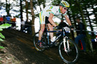 Chris Jongewaard of Australia on the slopes of Mount Ngongotaha during the Mountain Bike World Championships, 2006.  Photo / NZ Herald