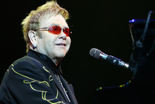 Elton John has recorded material for the new Queens of the Stone Age album. Photo / File
