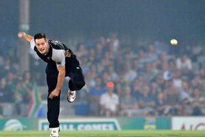 New Zealand's Mitchell McClenaghan says he won't be resting on his laurels. Photo / AFP