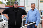 Kim Dotcom with Vikram Kumar, new Mega CEO. Photo / Duncan Brown