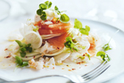 Crab, pink grapefruit and fennel salad. Photo / Chris Court, Donna Hay Magazine