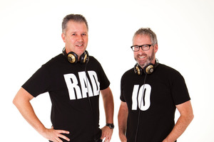 Paul Ego and Jeremy Corbett - stars of The Radio. Photo / Supplied