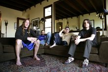 Danny Carey (left), Justin Chancellor, Maynard James Keenan and Adam Jones, Photo / Supplied 