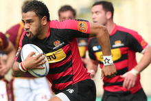 Telusa Veainu has been called into the Crusaders from the Highlanders to cover a wing shortage. Photo / Getty Images.