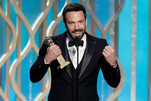 Ben Affleck at the Golden Globe awards. Photo/AP