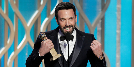 Ben Affleck at the Golden Globe awards. Photo/AP