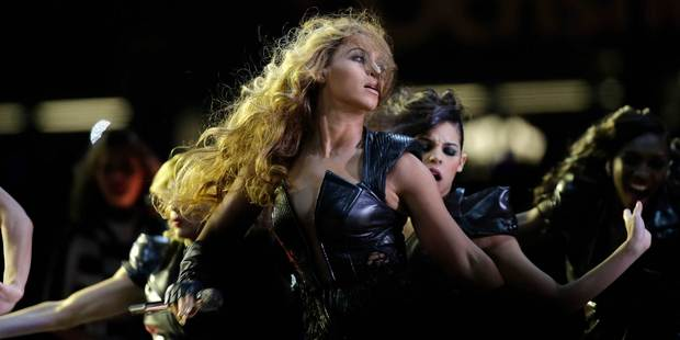 Beyonce performing at the Super Bowl. Photo/AP