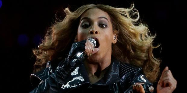 Beyonce performing at the Super Bowl. Photo/AP