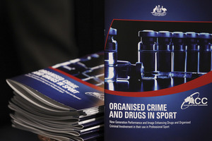 The Australian Government's report on organised crime and drugs in sport was released today. Photo / Getty Images
