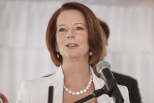 Australian Prime Minister Julia Gillard. P