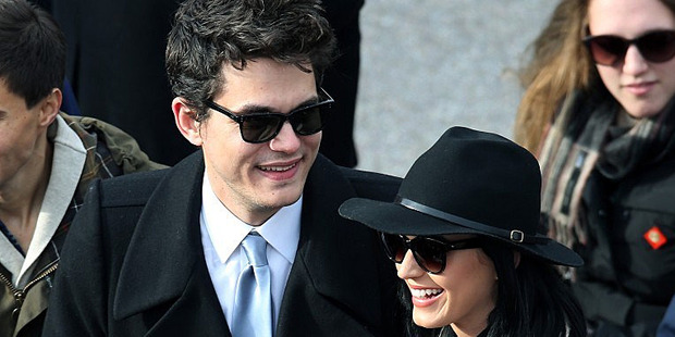 John Mayer and Katy Perry at the US presidential inauguration. Photo/AP