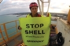 Actor Lucy Lawless and seven other Greenpeace activists have been sentenced to community work and ordered to pay reparation for boarding a drilling ship contracted to Shell Todd during a protest last year.