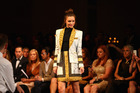 Miranda Kerr wearing designs by Josh Goot. Photo / Getty