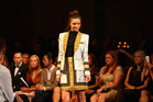 Miranda Kerr showcases designs by Josh Goot at the David Jones A/W 2013 Season Launch.Photo / Getty