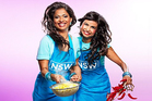 Jessie Khan and Biswa Kamila in a promotional image for My Kitchen Rules.