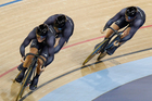 Edward Dawkins, Simon van Velthooven and Ethan Mitchell will all compete at the track world champs. Photo / Mark Mitchell