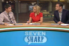 Seven Sharp's presenters during last night's first show. Photo/supplied