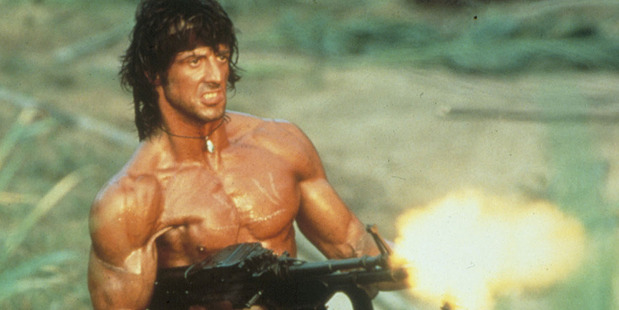 Sylvester Stallone in Rambo. Photo/supplied