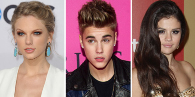 Taylor Swift wants pal, Selena Gomez, to ditch Bieber for good. Photo / AP