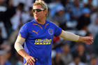 Shane Warne in action for the Rajasthan Royals. Photo / Getty Images